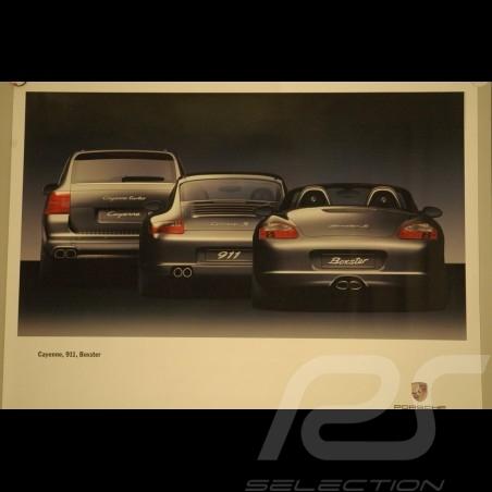 Affiche originale Porsche Gamme 911