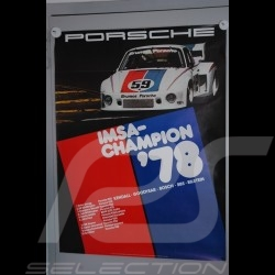 Affiche originale Porsche 935  IMSA 1978