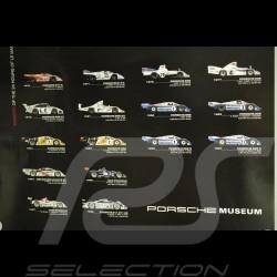 Poster Vainqueurs 24h du Mans Porsche