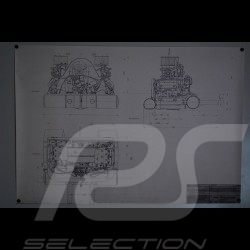 Reproduction Blueprint moteur Porsche 356 1962