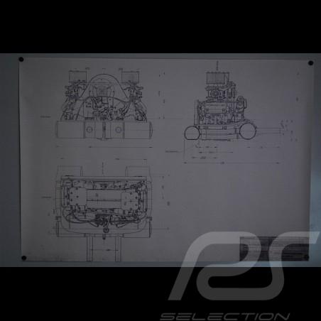 Reproduction Blueprint moteur Porsche 356