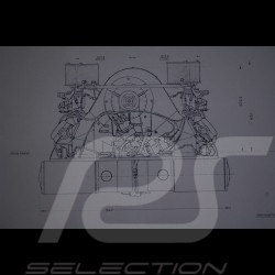 Reproduction Blueprint moteur Porsche 356