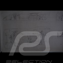 Reproduction Blueprint Porsche 917 K 1971