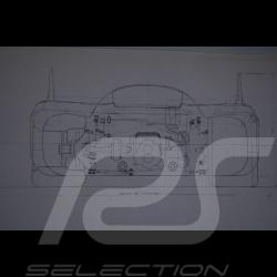 Reproduction Blueprint Porsche 917 K 1971