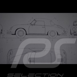 Reproduction Blueprint Porsche 356A Cabriolet 1956
