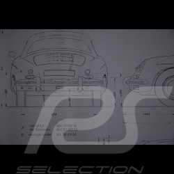 Reproduction Blueprint Porsche 356 B Roadster 1961