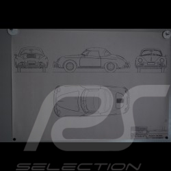 Reproduction Blueprint  Porsche 356 A 1958