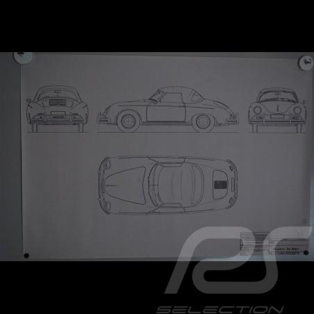 Reproduction Blueprint  Porsche 356 A 1958