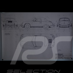 Reproduction Blueprint Porsche 356 B Cabriolet 1961