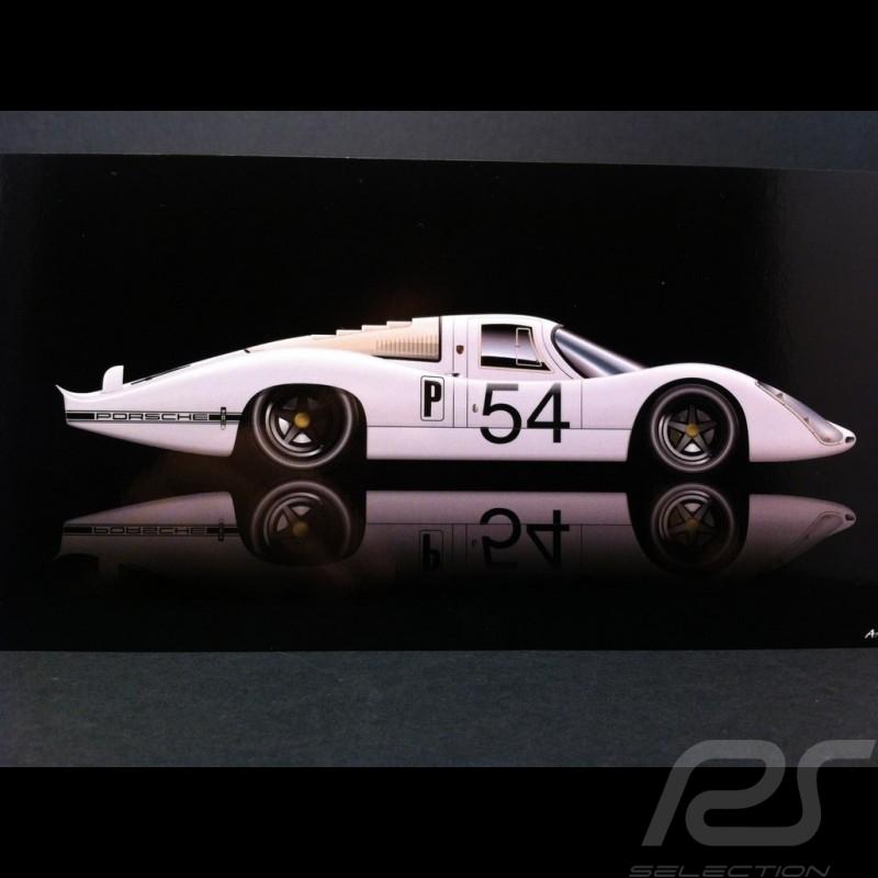 Carte postale Porsche 907 L Vainqueur Daytona 1968 21 x 10.5 cm
