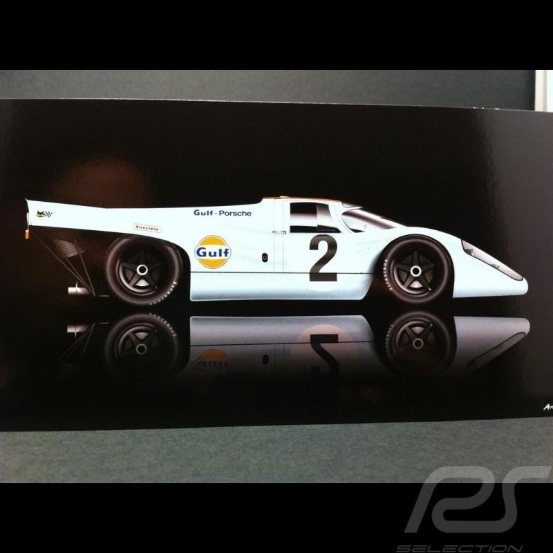 Carte postale Porsche 917 K Vainqueur Daytona 1970 21 x 10.5 cm