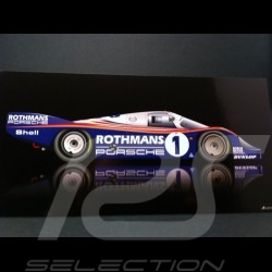 Carte postale Porsche 956 Vainqueur Le Mans 1982 21 x 10.5 cm