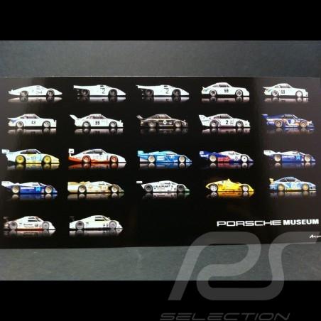 Carte postale Porsche les 22 vainqueurs des 24h de Daytona