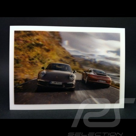 Carte postale relief 991 Carrera 4 et 4S
