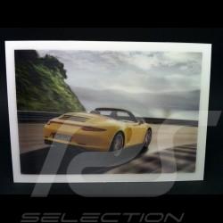 Carte Postale magique 991 Carrera 4S Cabriolet