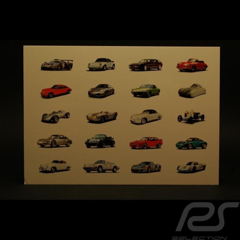 Carte postale voitures