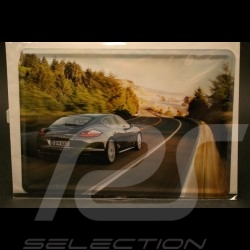 Carte postale métallique Porsche Panamera S grise
