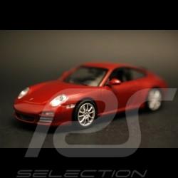 Porsche 911 type 997 Carrera 4S Coupé rouge 1/43 Minichamps WAP02001718