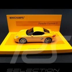Porsche 987 Cayman S 2005 jaune 1/43 Minichamps 436065620
