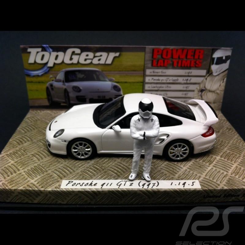 porsche 997 gt2 blanche top gear 1 43 minichamps 519436630. Black Bedroom Furniture Sets. Home Design Ideas