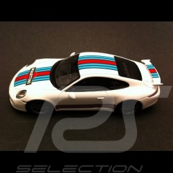 Porsche 911 type 991 Carrera S Exclusive Martini blanche 1/43 Spark WAX20140005
