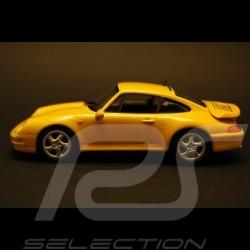 Porsche 993 Turbo 1995 jaune 1/43 Minichamps 430069210