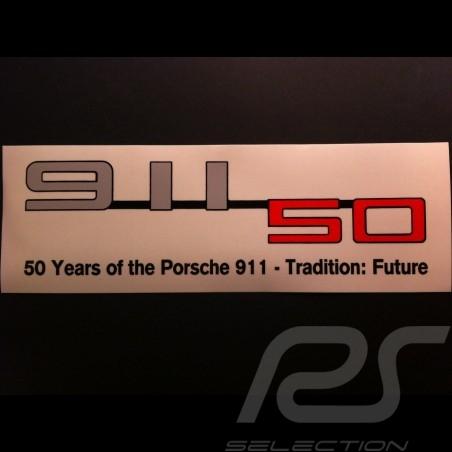Aufkleber Porsche 911 50 jahre transparent 9 x 3 cm