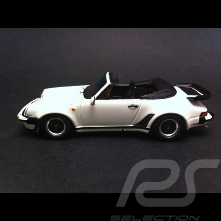 Porsche 911 Turbo 3.3 Cabriolet 1989 blanche 1/43 Spark S3498
