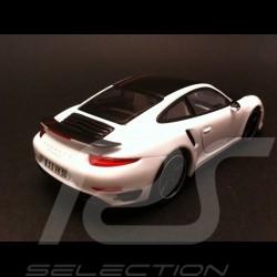 Porsche 991 Turbo S Exclusive blanc / noir 1/43 Minichamps WAX20130026