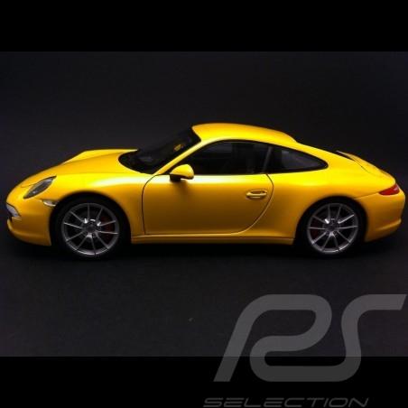 Porsche 991 Carrera S gelb 1/18 Welly 18047