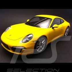 Porsche 991 Carrera S jaune 1/18 Welly 18047