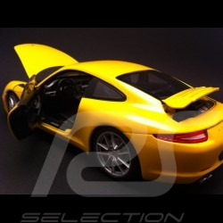 Porsche 991 Carrera S jaune 1/18 Welly 18047Y