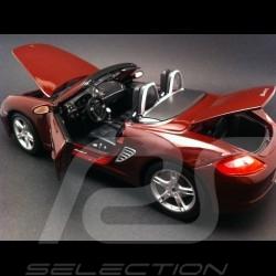 Porsche Boxster S 987 rouge rubis 1/18 Maisto 31123