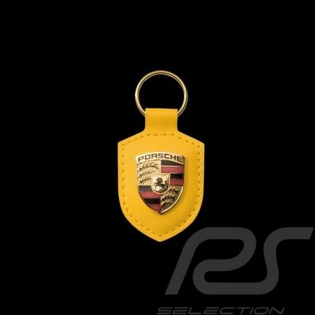 Porsche Schlüsselanhänger Wappen gelb