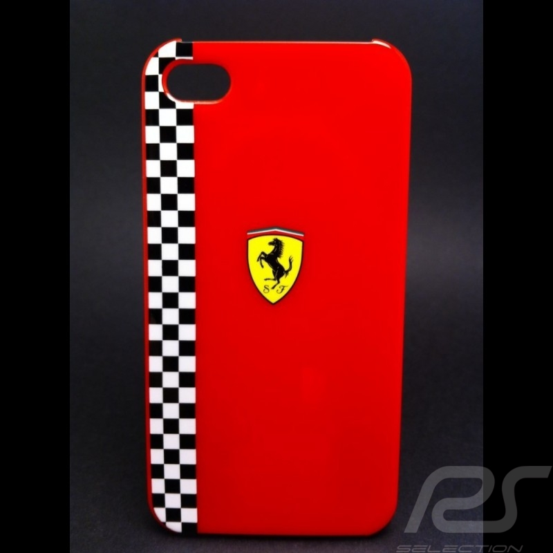 coque iphone 4 4s rouge ferrari selection rs. Black Bedroom Furniture Sets. Home Design Ideas