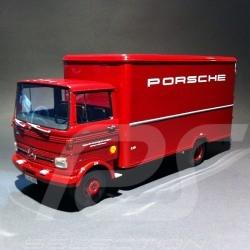 Koffer -LKW Mercedes - Benz LP608 Porsche rot 1/18 Premium Classixxs 30040