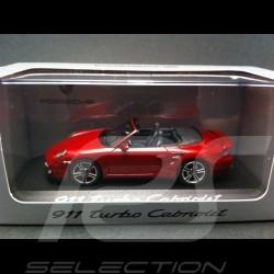 Porsche 997 Turbo Cabriolet rouge 1/43 Minichamps WAP0200130A