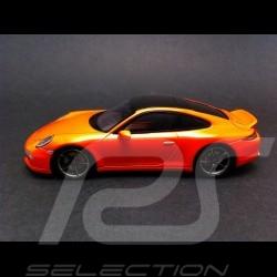 Porsche 911 typ 991 Carrera S Tequipment orange Porsche Platz april 2014 1/43 Spark MAP02020414