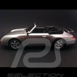 Porsche 911 typ 993 Carrera Cabriolet argent 1/18 Burago 12039