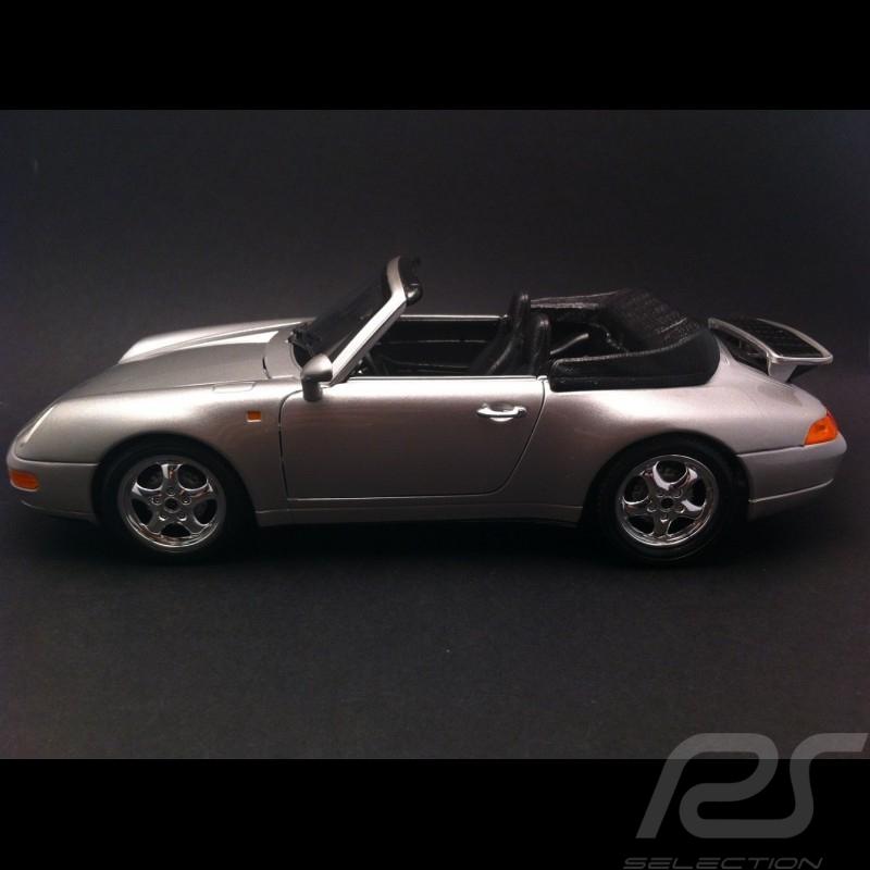 Porsche 911 type 993 Carrera Cabriolet argent 1/18 Burago 12039