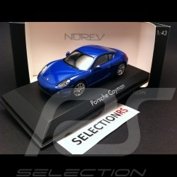 Porsche Cayman 2013 blue 1/43 Norev 750031