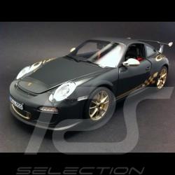 Porsche 997 GT3 RS 2010 grau / gold 1/18 Norev 187569