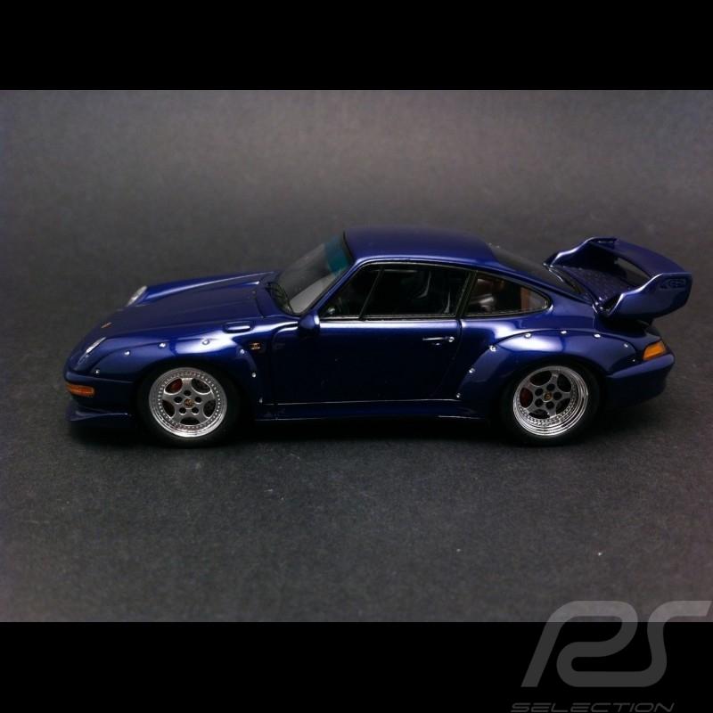 Porsche 911 type 993 GT2 1995 bleue 1/43 Spark S4197