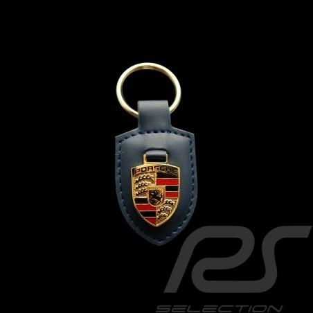 Porsche Schlüsselanhänger Wappen blau