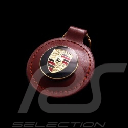 Schlüsselanhänger Wappen Porsche braun