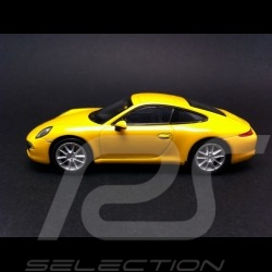 Porsche 991 Carrera S yellow 1/43 Welly MAP01994514