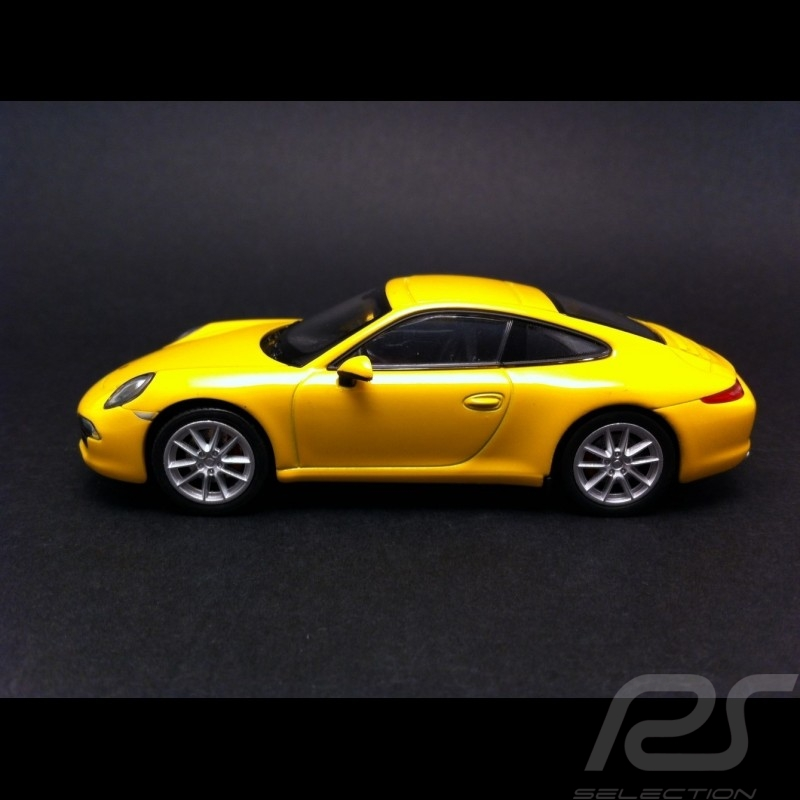 Porsche 991 Carrera S gelb 1/43 Welly MAP01994514