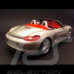 Porsche Boxster S 981 2012 gris 1/18 Minichamps 110062030