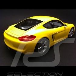 Porsche Cayman 2013 jaune 1/18 Minichamps 110062220