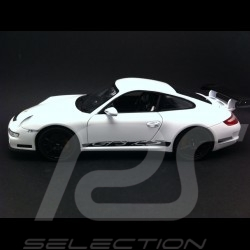 Porsche 911 GT3 RS 997 3.6 ph 1 blanche / noire 2007 1/18 Welly 18015